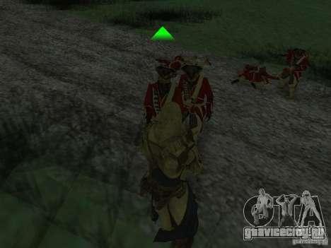 Connor From ACIII для GTA San Andreas седьмой скриншот