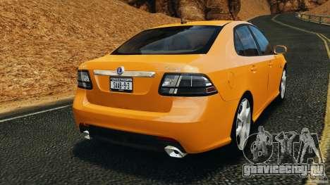 Saab 9-3 Turbo X 2008 для GTA 4 вид сзади слева