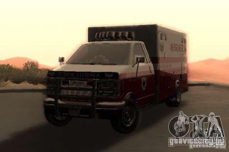 Ambulance из GTA 4 для GTA San Andreas вид сзади слева