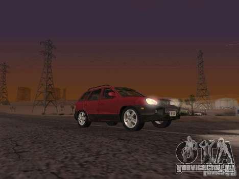 Hyundai Santa Fe Classic для GTA San Andreas вид сзади слева