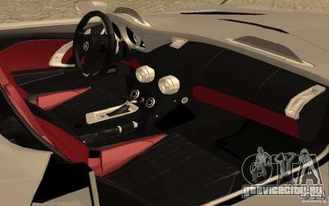 Mercedes-Benz SLR McLaren Stirling Moss для GTA San Andreas вид сзади