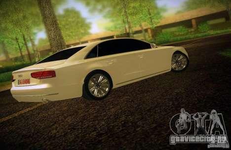 Audi A8 2010 для GTA San Andreas вид сверху