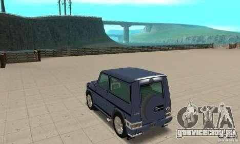 Mercedes-Benz G500 1999 Short [with kangoo v1] для GTA San Andreas вид сзади слева