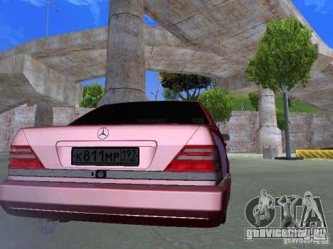 Mercedes-Benz S600 W140 v 2.0 для GTA San Andreas вид справа