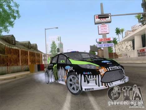 Ford Fiesta для GTA San Andreas вид изнутри