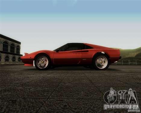 Ferrari 308 GTS Quattrovalvole для GTA San Andreas вид изнутри