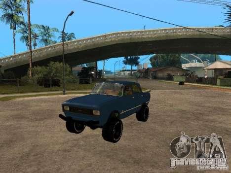 Москвич 412 - 4x4 для GTA San Andreas вид сзади