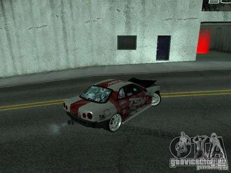 Nissan Skyline R 34 для GTA San Andreas вид сбоку