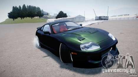Toyota Supra JZA80 для GTA 4 вид сбоку