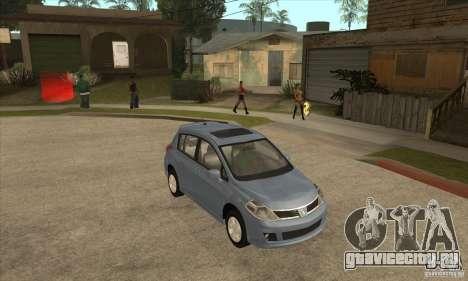 Nissan Tiida для GTA San Andreas вид сзади