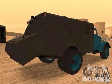 ГАЗ 51 Мусоровоз для GTA San Andreas вид справа