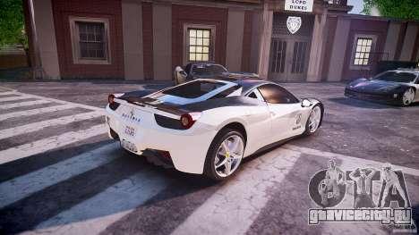 Ferrari 458 Italia - Brazilian Police [ELS] для GTA 4 вид сверху