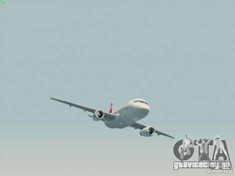 Airbus A319-112 Swiss International Air Lines для GTA San Andreas вид сзади