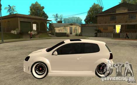 VW Golf 5 GTI Tuning для GTA San Andreas вид слева