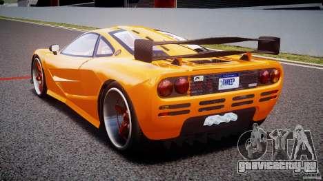 Mc Laren F1 LM v1.0 для GTA 4 вид сзади слева