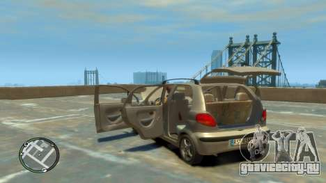 Daewoo Matiz Style 2000 для GTA 4 вид изнутри