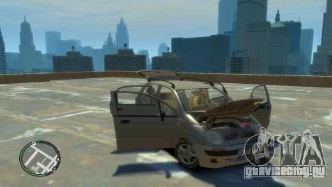 Daewoo Matiz Style 2000 для GTA 4 вид сзади