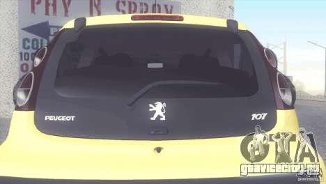 Peugeot 107 2011 для GTA San Andreas вид справа