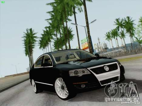 Volkswagen Magotan 2011 для GTA San Andreas вид сзади