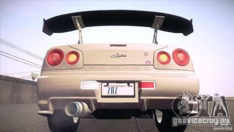 Nissan Skyline R34 для GTA San Andreas колёса