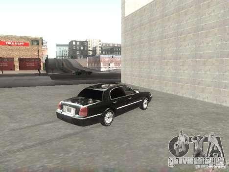 Lincoln Town car sedan для GTA San Andreas вид сзади слева