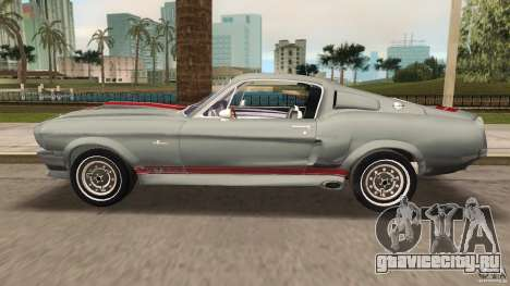 Ford Shelby GT500 для GTA Vice City вид изнутри