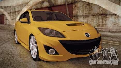 Mazda Mazdaspeed3 2010 для GTA San Andreas вид слева