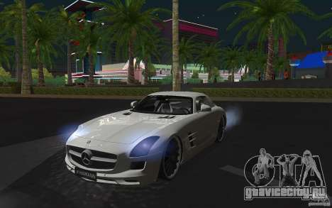 Mercedes Benz SLS HAMANN для GTA San Andreas вид слева