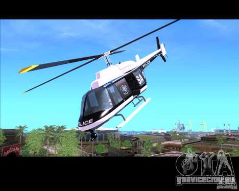 GTA IV Police Helicopter для GTA San Andreas