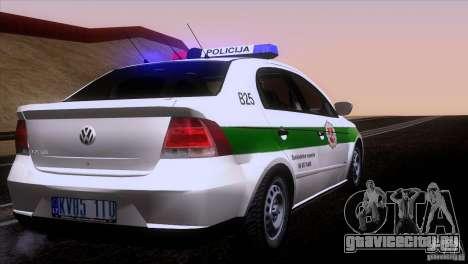 Volkswagen Voyage Policija для GTA San Andreas вид справа