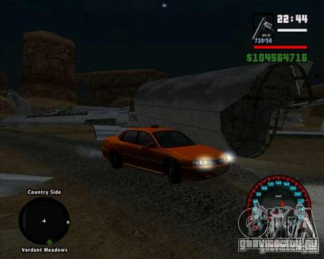 Новый спидометр BMW для GTA San Andreas третий скриншот