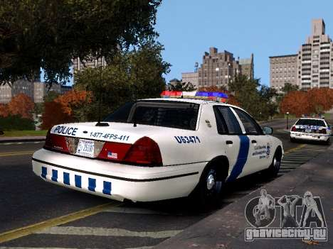 Ford Crown Victoria Homeland Security для GTA 4 вид слева