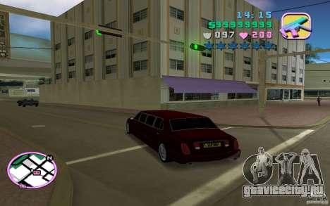 Rolls Royce Silver Seraph для GTA Vice City вид сзади слева