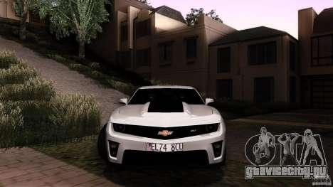 Chevrolet Camaro ZL1 2011 v1.0 для GTA San Andreas вид изнутри