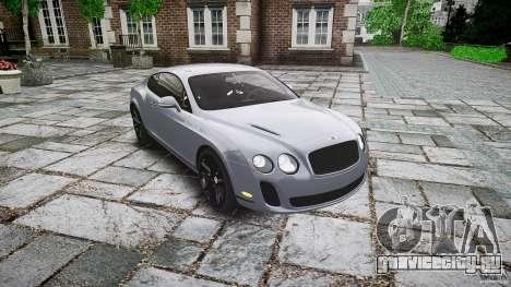 Bentley Continental SuperSports 2010 [EPM] для GTA 4 вид сзади
