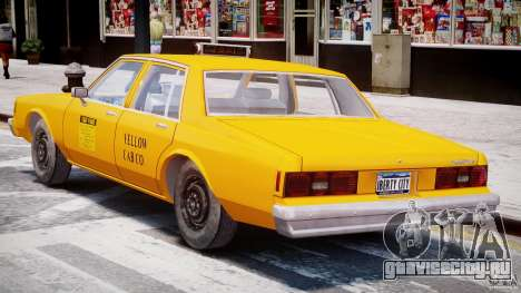 Chevrolet Impala Taxi 1983 [Final] для GTA 4 вид снизу