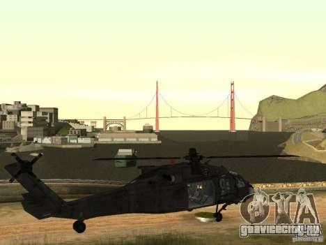 Вертолёт из CoD 4 MW для GTA San Andreas вид сзади