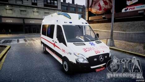 Mercedes-Benz Sprinter Iranian Ambulance [ELS] для GTA 4 вид сзади