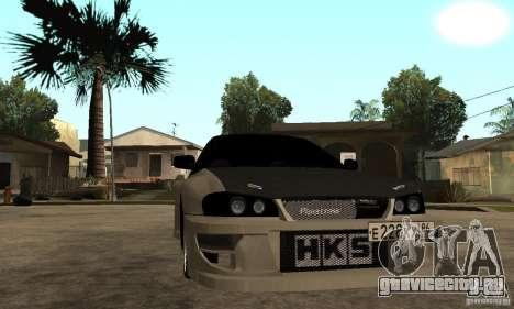 Subaru Impreza 22B STI Tuning для GTA San Andreas вид сзади