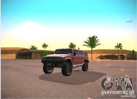 Patriot из GTA 4 для GTA San Andreas вид сзади