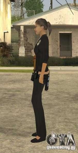 Скин девушки ПД для GTA San Andreas четвёртый скриншот