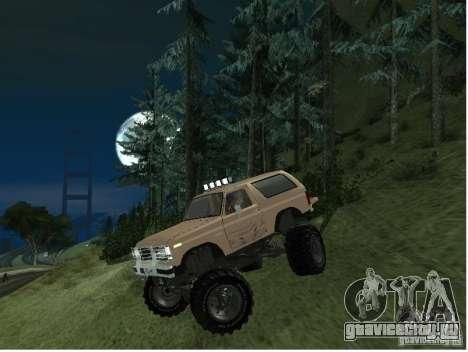 Ford Bronco IV Monster для GTA San Andreas вид слева