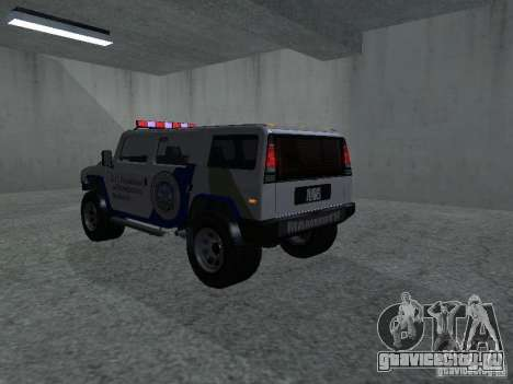 NOOSE Patriot из GTA 4 для GTA San Andreas вид слева