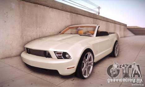 Ford Mustang 2011 Convertible для GTA San Andreas