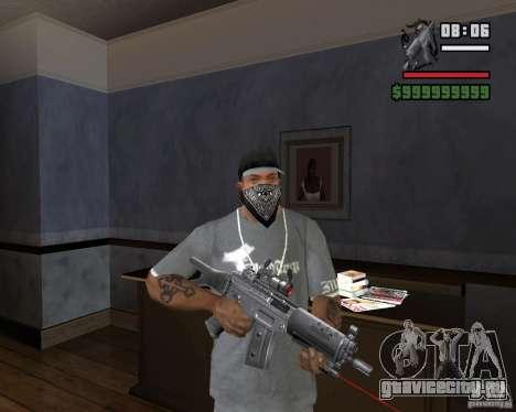 Винтовка с лазерным прицелом для GTA San Andreas третий скриншот