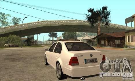 Volkswagen Bora VR6 2003 для GTA San Andreas вид сзади слева