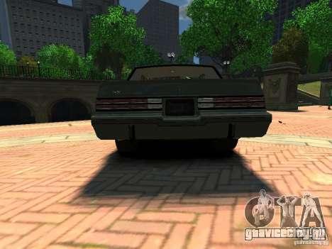 Buick Regal GNX для GTA 4 вид сзади слева