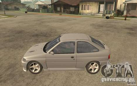 Ford Escort RS Cosworth 1992 для GTA San Andreas вид слева