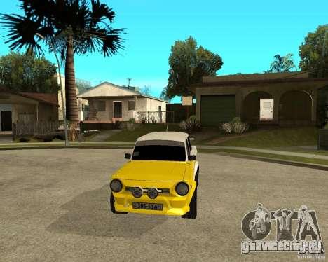 ЗАЗ 968м тюнингованый для GTA San Andreas вид сзади