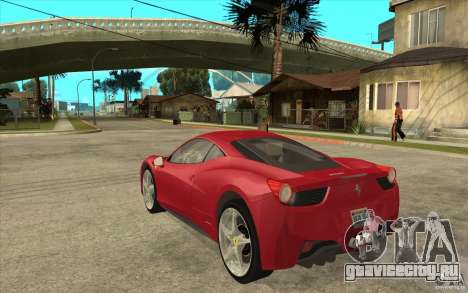 Ferrari F458 для GTA San Andreas